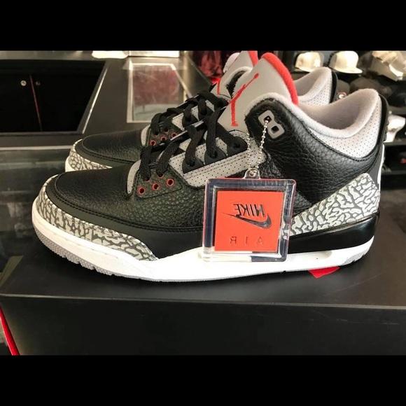 1f4905d58581 2018 retro 3 black cement. NWT. Jordan.  250  200. Size. 9